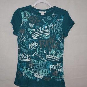 Charlotte Rousse Punk Graphic T-Shirt Size Large